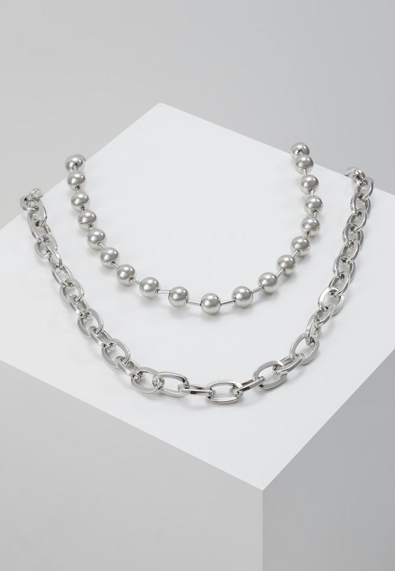 Hikari - BALL CHAIN 2 PACK - Collar - silver-coloured
