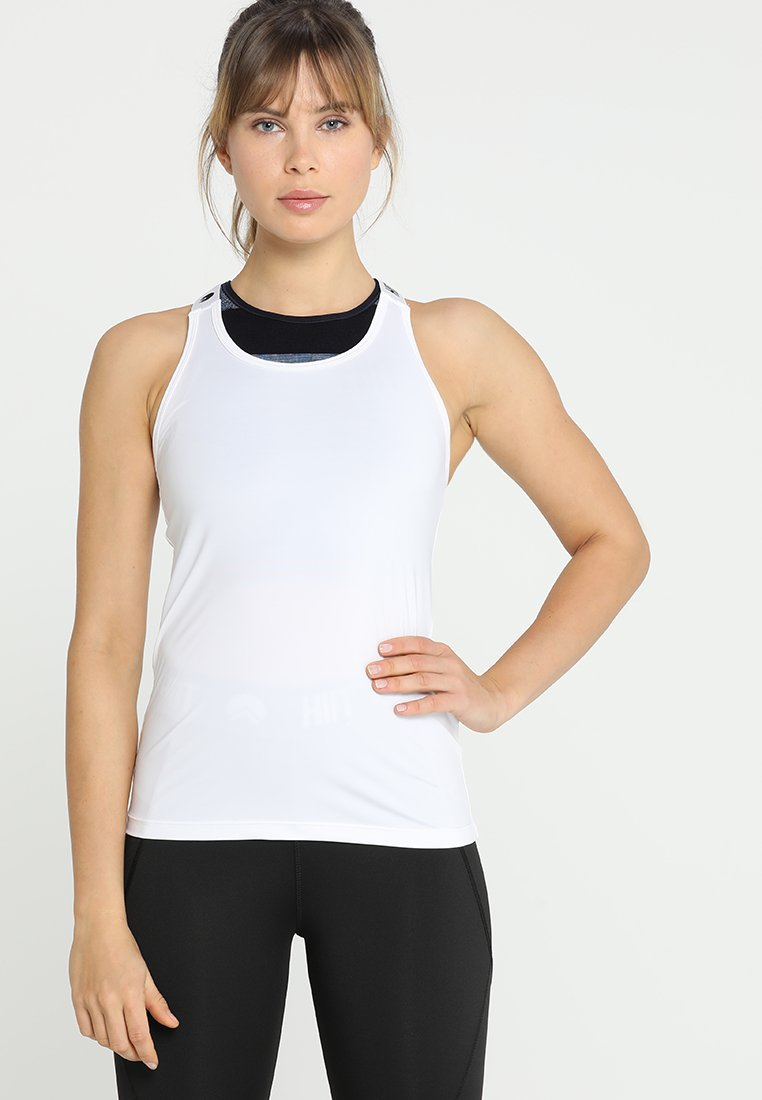 HIIT - BRAND TAPED RACERBACK - Top - white