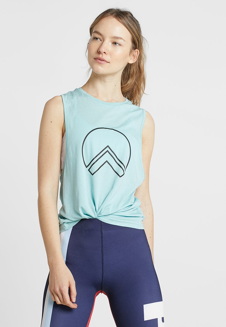 HIIT - SONJA OUTLINE GRAPHIC TWIST BACK - Top - blue