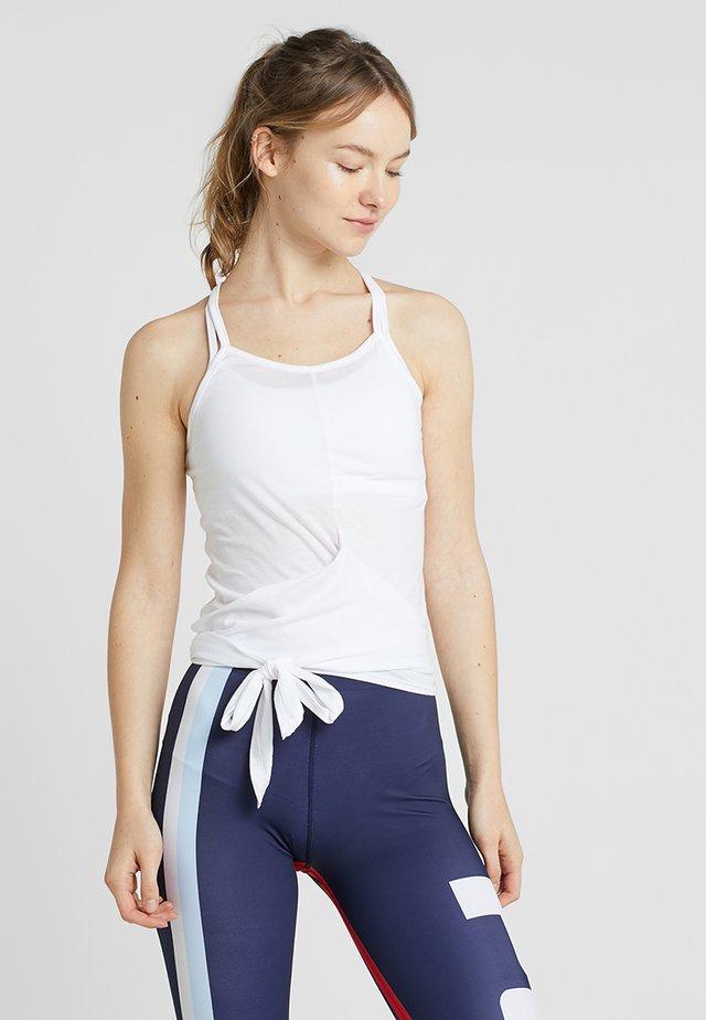 ALEXIA WRAP TIE - Top - white