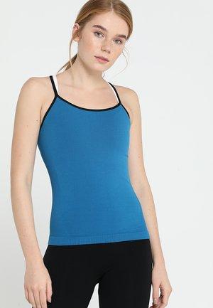 MARTINA SEAMLESS RIBBED - Top - blue