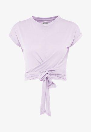 TESSA CROSS FRONT SLEEVE - T-Shirt print - lilac