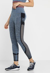 HIIT - SEAMLESS INJECTION SPORTS LEGGING - Trikoot - blue/red mix - 0