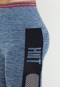 HIIT - SEAMLESS INJECTION SPORTS LEGGING - Trikoot - blue/red mix - 5
