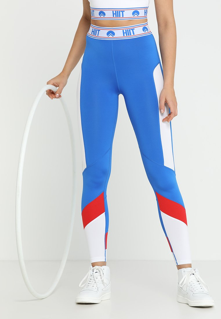 HIIT - COLOUR BLOCK  - Tights - blue white mix