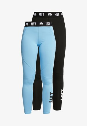 LEGGING 2 PACK - Medias - blue/black
