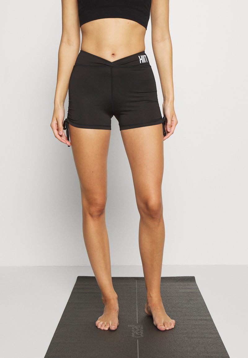 HIIT - LUCKY RUCHED SHORT - Legging - black