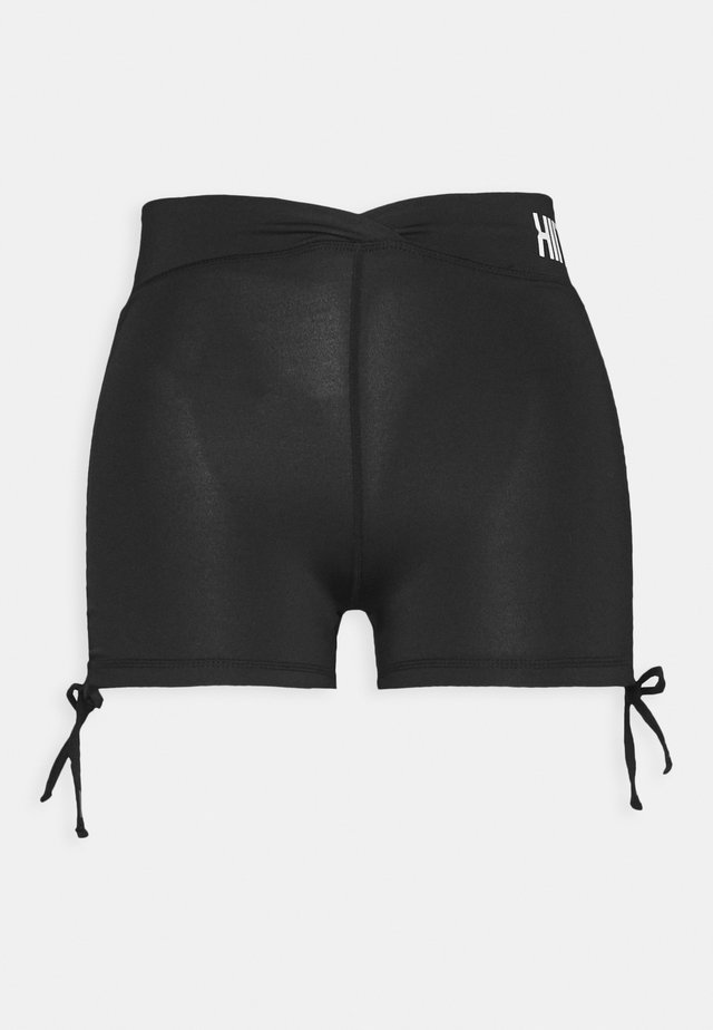 LUCKY RUCHED SHORT - Trikoot - black