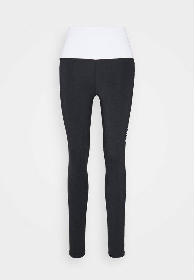CONTRAST LEGGING - Legging - black