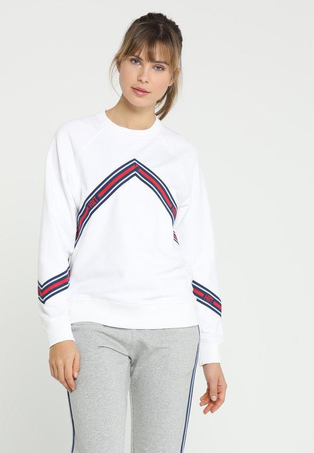 CHEVRON TAPED - Sweatshirt - white