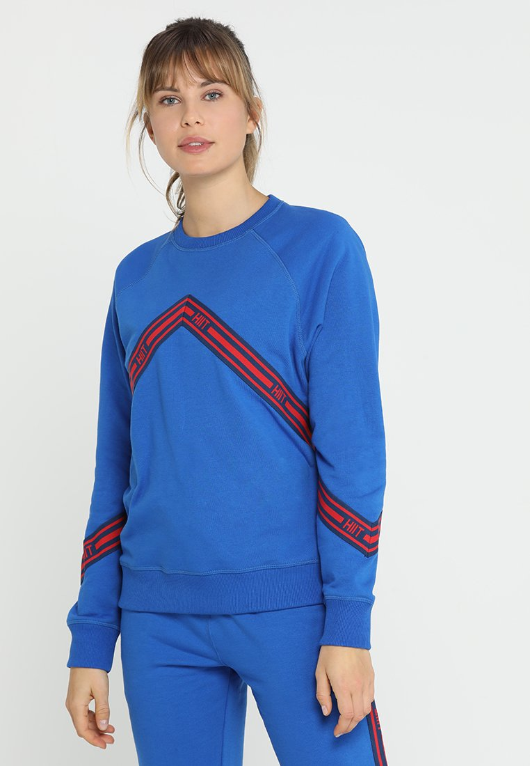 HIIT - CHEVRON TAPED - Sweatshirt - blue