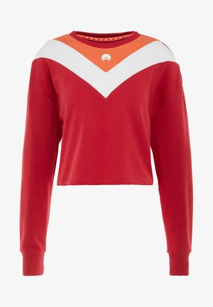 ELLIE CHEVRON BOXY CROPPED - Sweatshirt - red