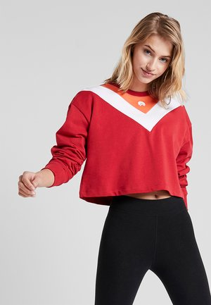 ELLIE CHEVRON BOXY CROPPED - Sweater - red
