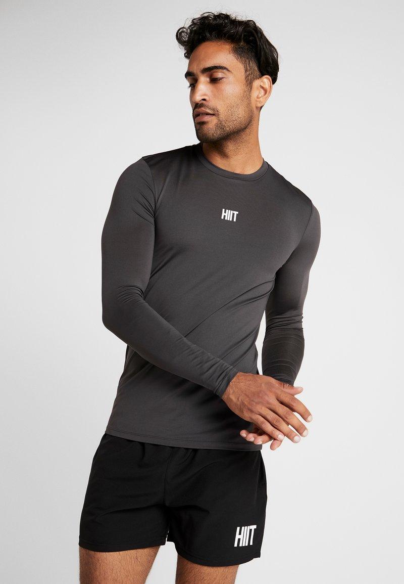 HIIT - CORE MUSCLE TEE - Long sleeved top - charcoal