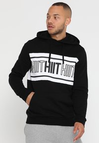 HIIT - CHEST PANEL OH HOODY  - Mikina s kapucí - black - 0