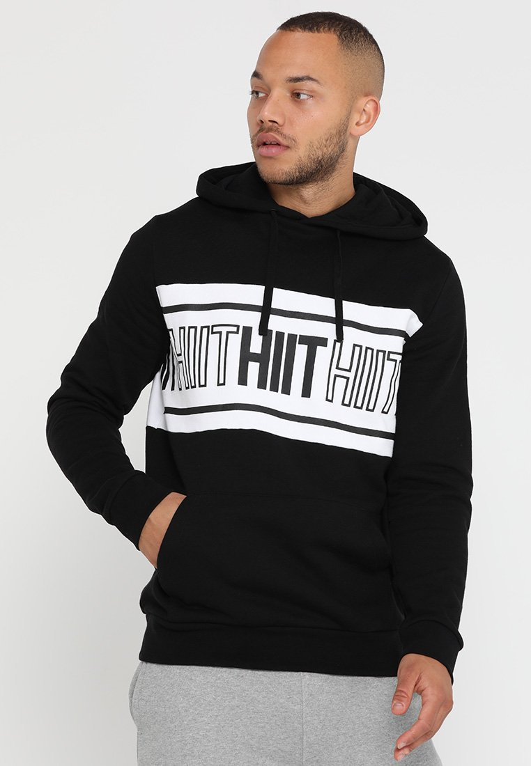 HIIT - CHEST PANEL OH HOODY  - Mikina s kapucí - black