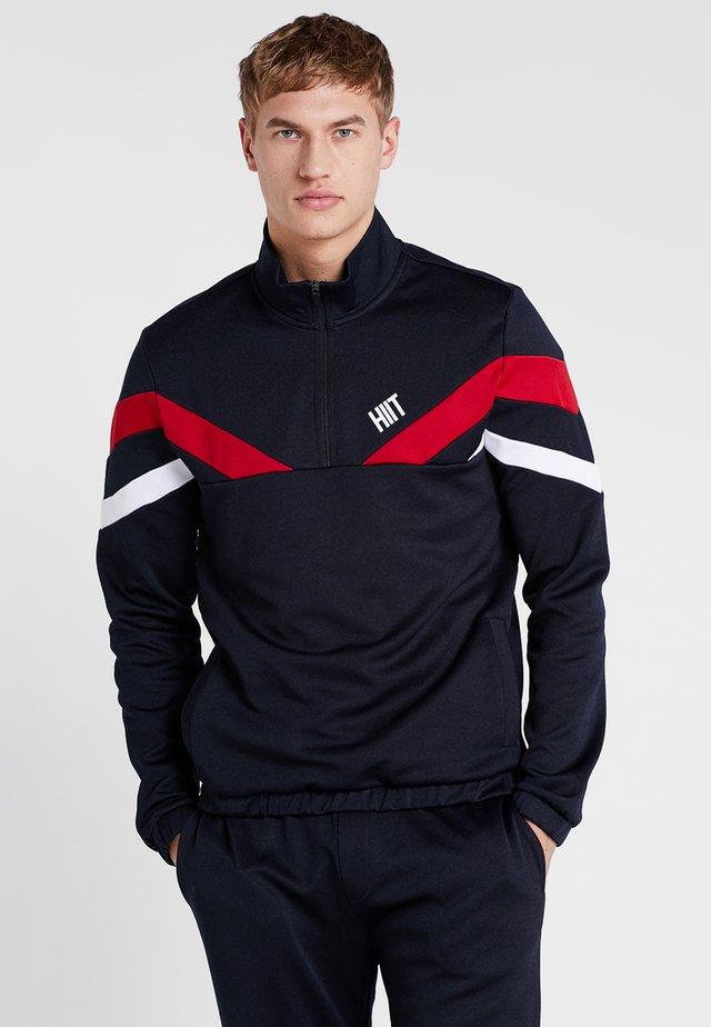TRICOT COLOURBLOCK ZIP POPOVER - Langærmede T-shirts - navy