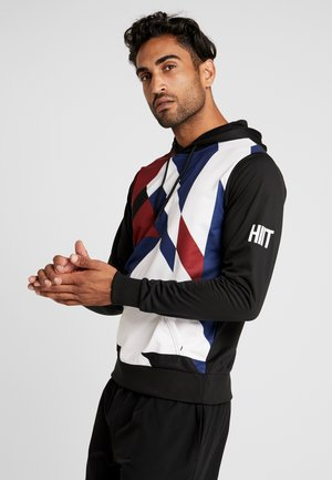 EXPLODED GEO TRACK SUIT HOODY - Mikina s kapucí - black