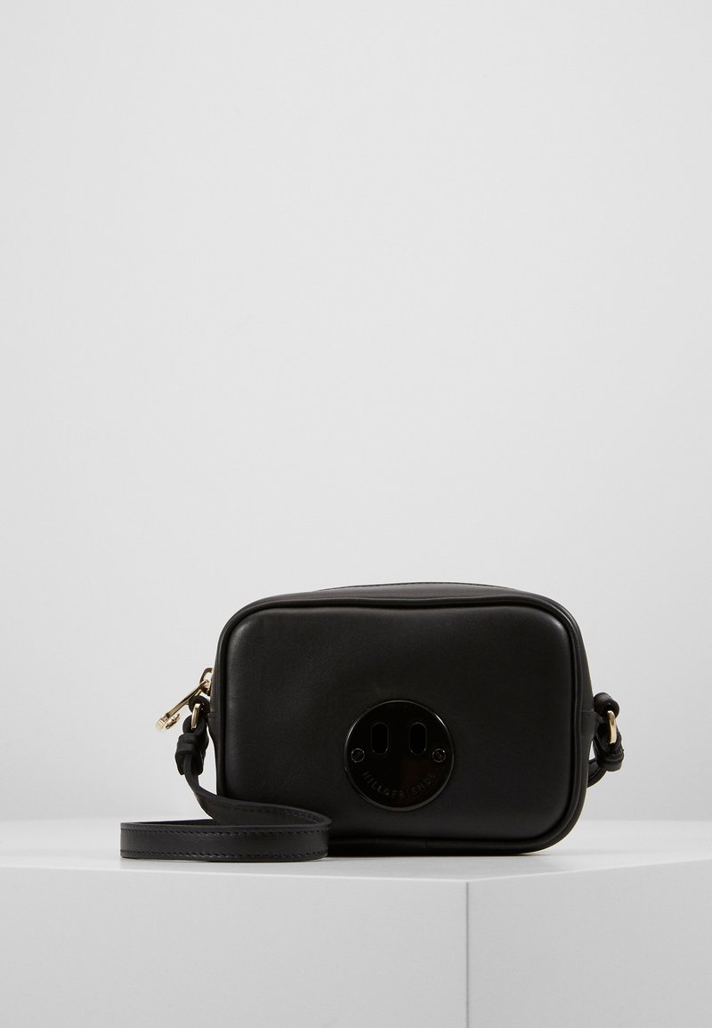 Hill & Friends - HAPPY MINI CAMERA BAG - Taška s příčným popruhem - black