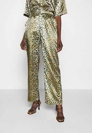 RELAXED PANTS - Spodnie materiałowe - leo satin