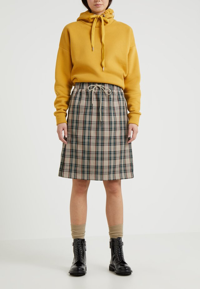 KNEE SKIRT - Gonna a campana - sand tartan