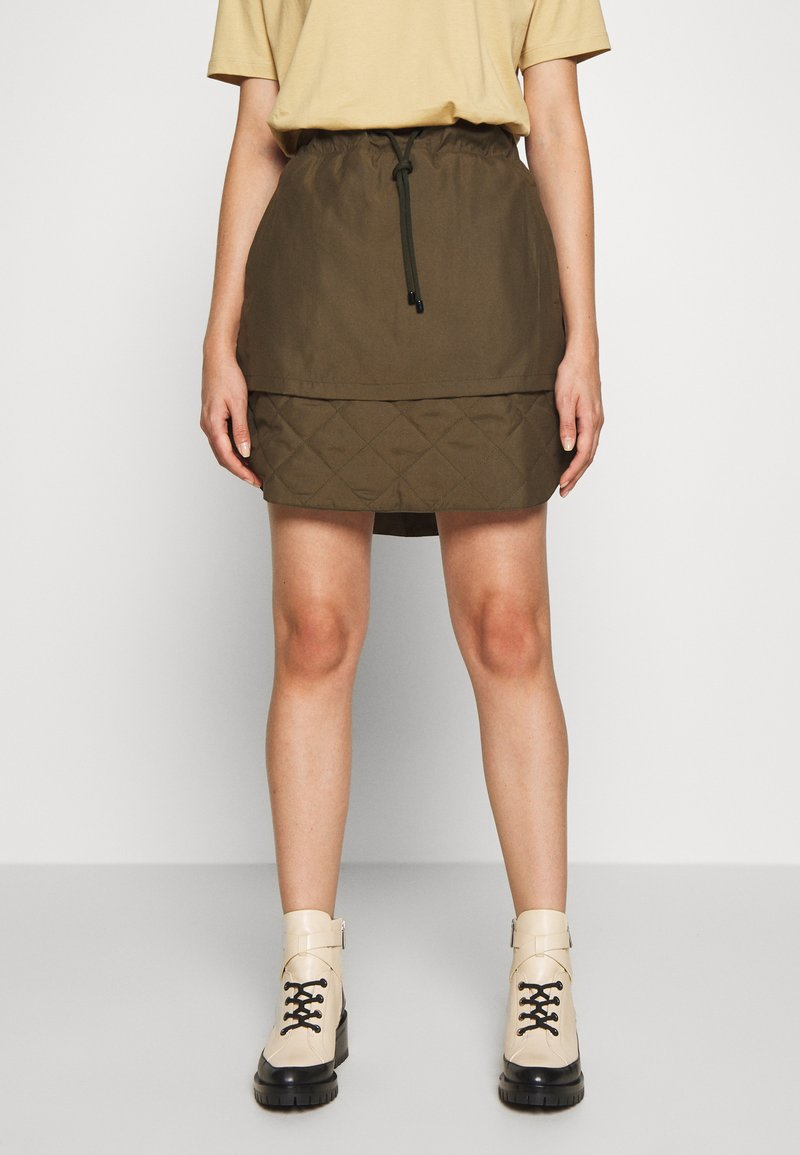 Han Kjobenhavn - LAYER SKIRT - A-line skirt - dusty brown