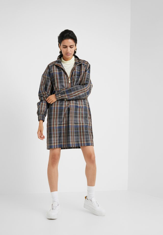 TRACK DRESS - Day dress - brown check