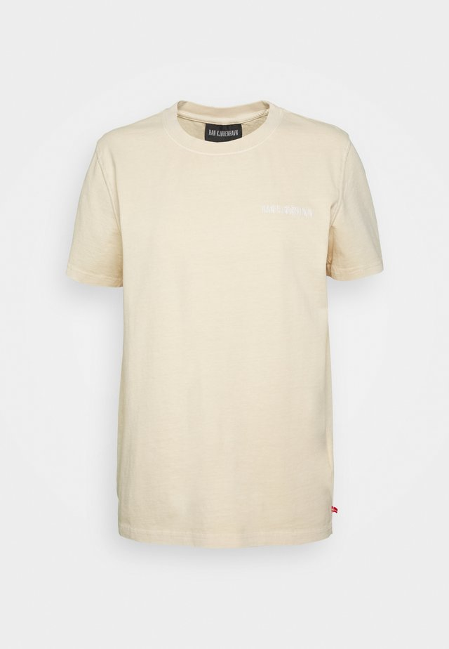 CASUAL TEE - T-shirt med print - beige logo