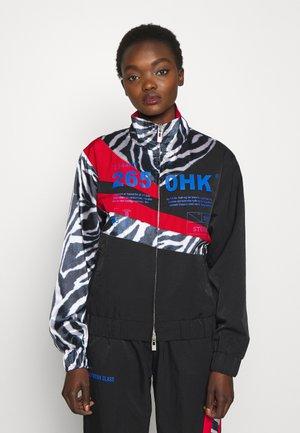 ANIMAL PRINT TRACK - Summer jacket - black