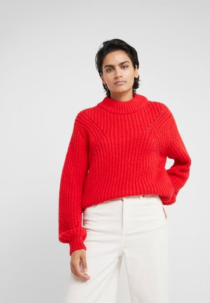 BULKY - Strickpullover - red