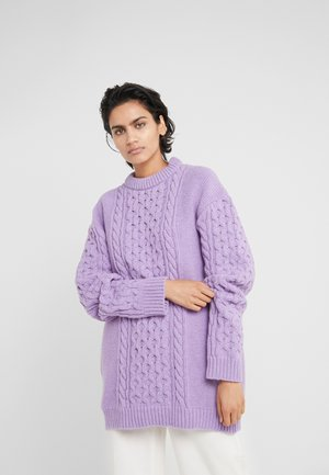 BOYFRIEND  - Strikkegenser - purple
