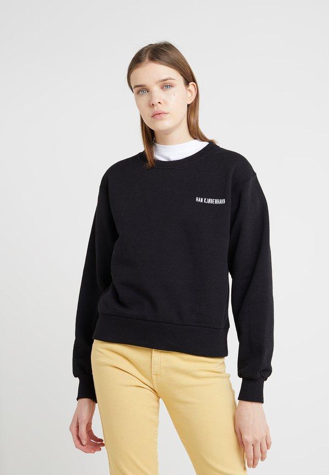 BULKY CREW - Sweatshirt - black