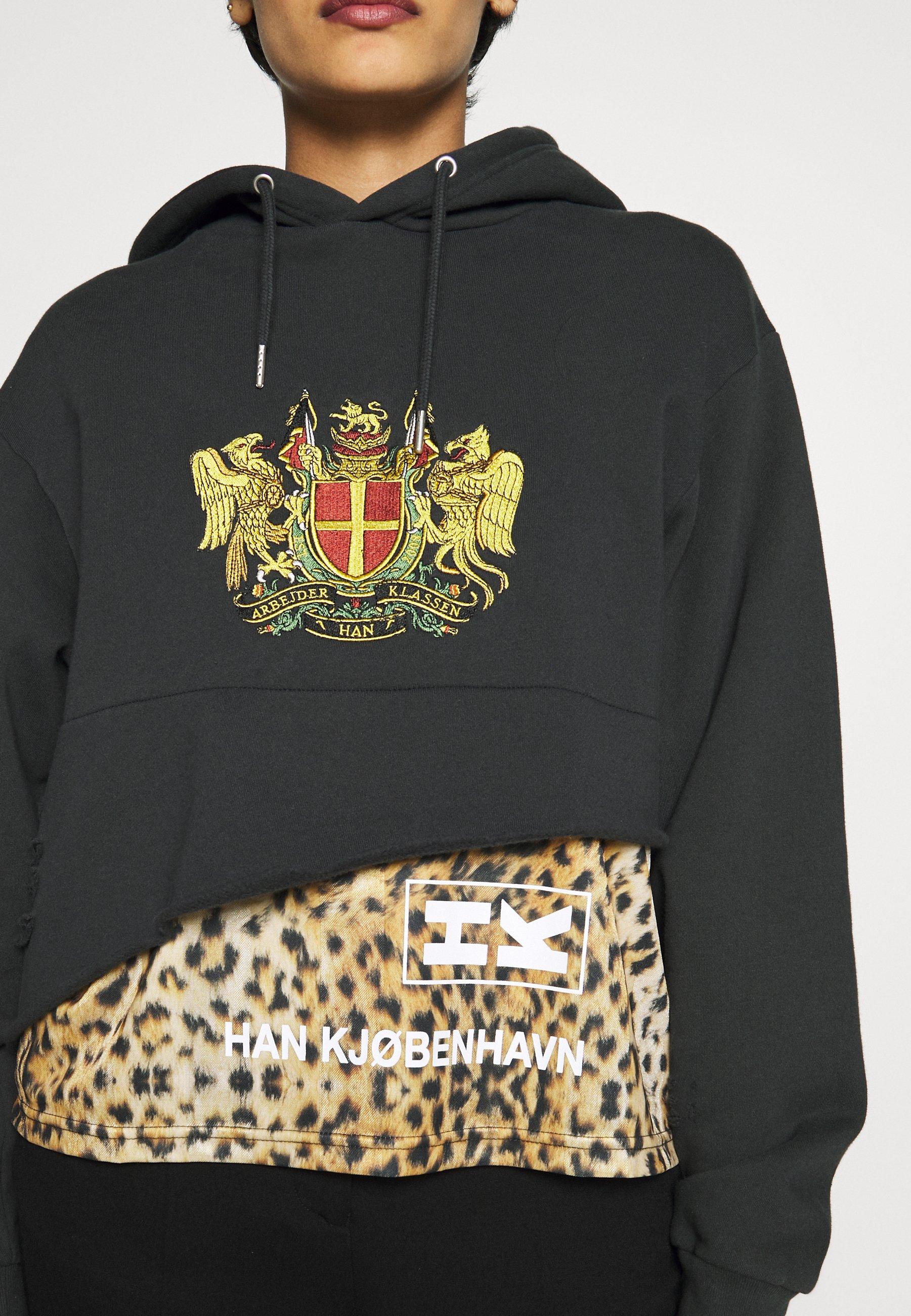 Han Kjobenhavn BULKY HOODIE - Bluza z kapturem - black ravage