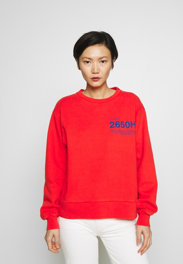 BULKY CREW - Sweatshirt - red