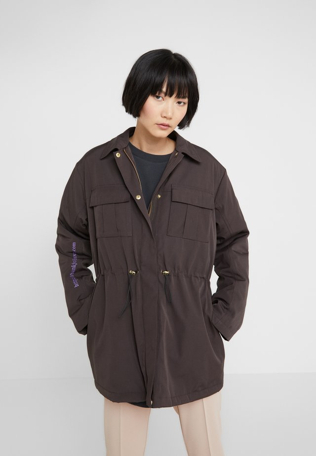 DESK JACKET - Parkas - black cotton