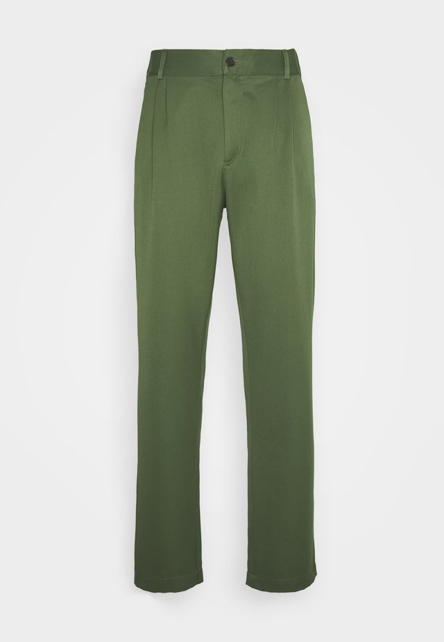Trousers - green wool