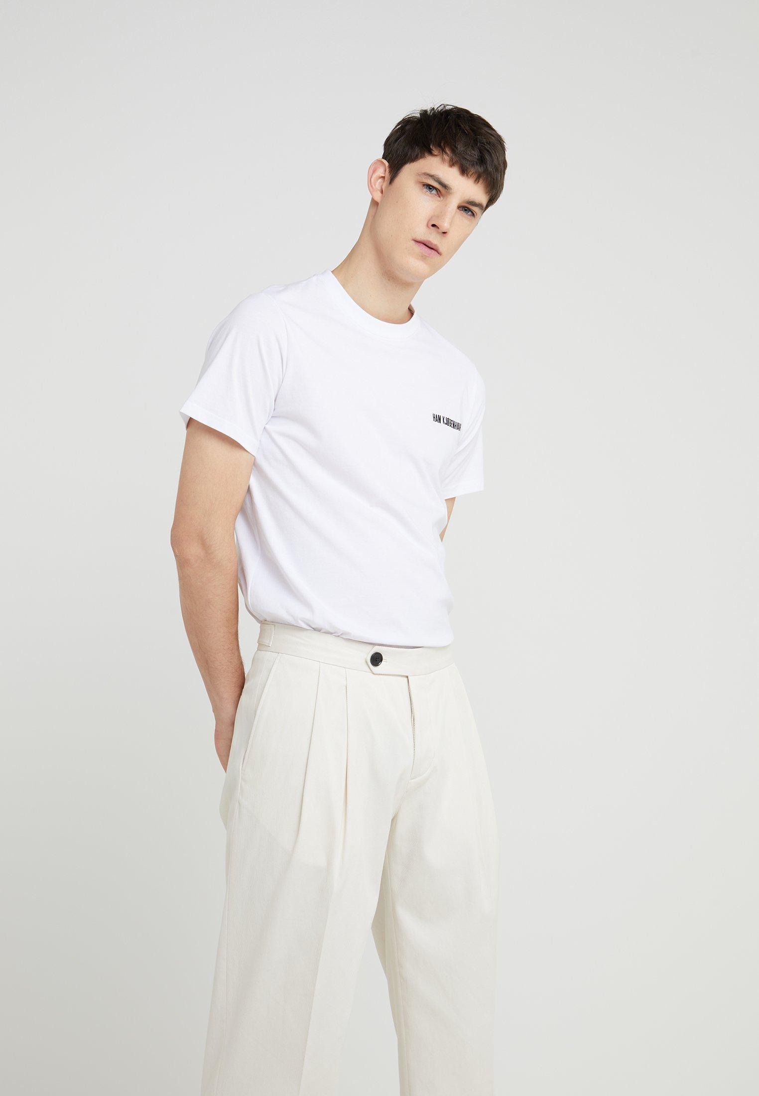 TeeT White Basique Han Casual Kjobenhavn shirt 5L3jqcAR4