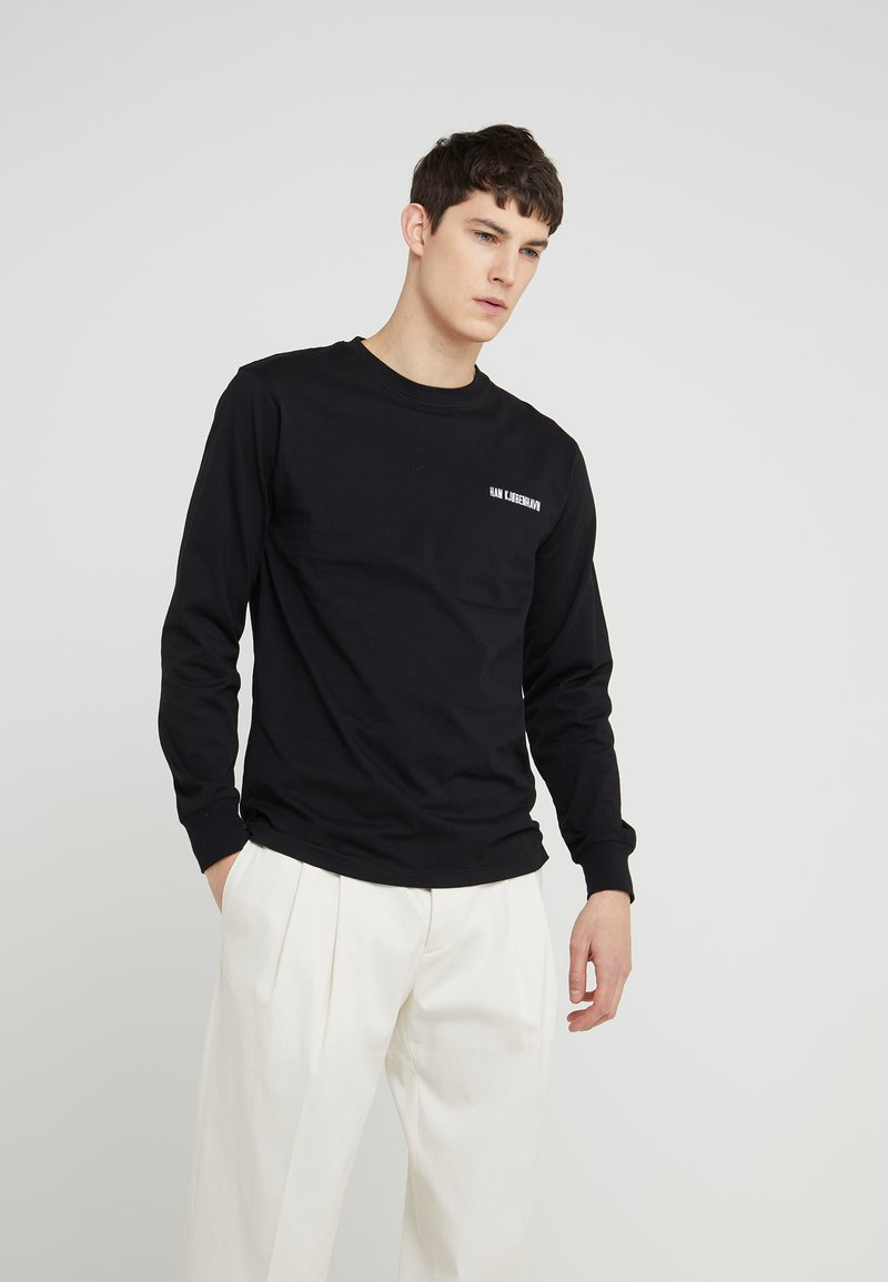 Han Kjobenhavn - CASUAL LONG SLEEVE - Long sleeved top - black