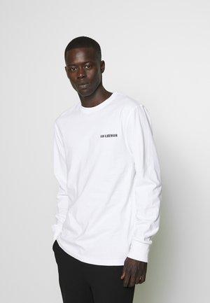 CASUAL LONG SLEEVE TEE - Langærmede T-shirts - white logo