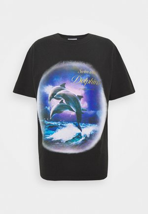 BOXY TEE - T-Shirt print - faded black