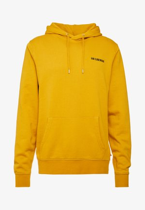 CASUAL HOODIE - Bluza z kapturem - mustard