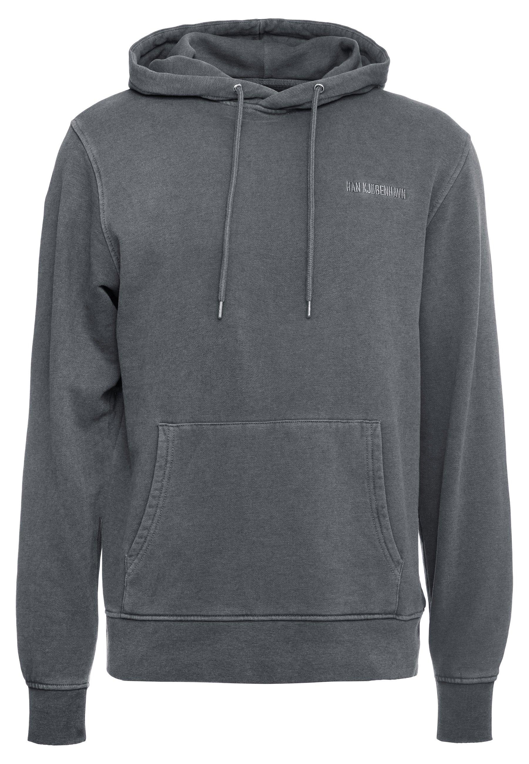 Han Kjobenhavn CASUAL - Bluza z kapturem - dark grey