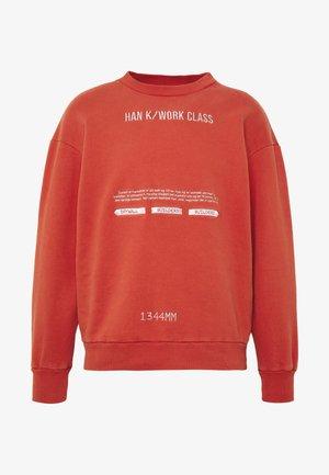 ARTWORK CREW - Sweatshirt - red