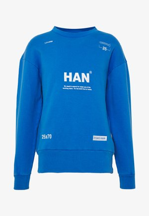 BULKY CREW - Sweatshirt - blue