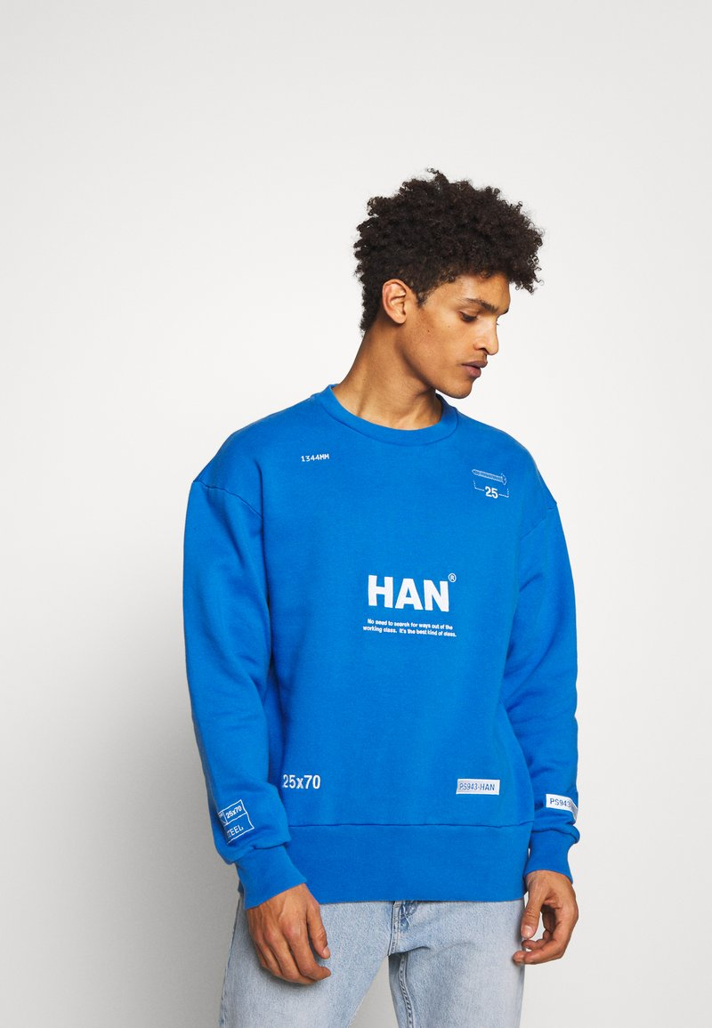 Han Kjobenhavn - BULKY CREW - Sweatshirt - blue