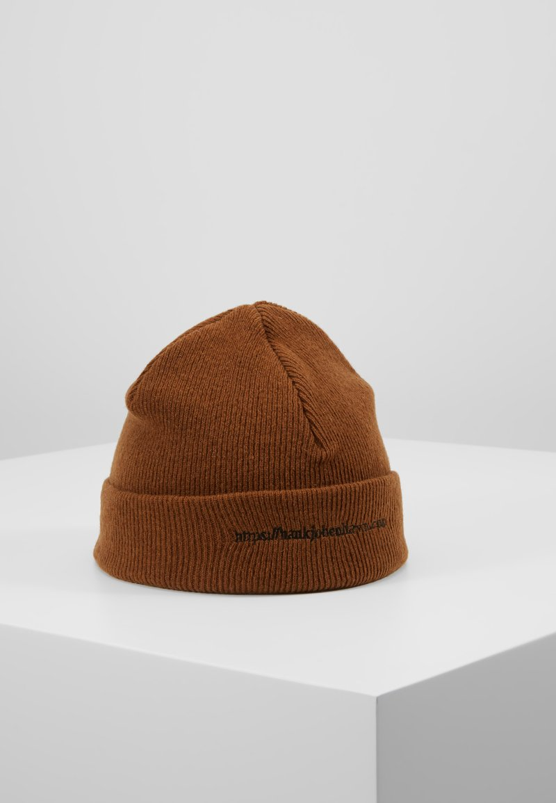 Han Kjobenhavn - HAN TOP BEANIE - Bonnet - brown