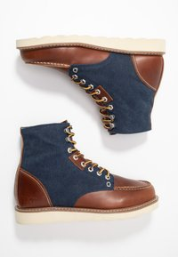 HKT by Hackett - WORK BOOT - Lace-up ankle boots - brown - 1