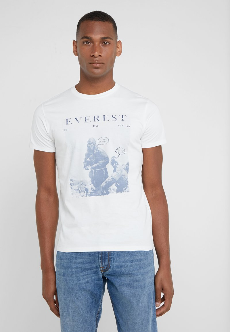 HKT by Hackett - EVEREST TEE - T-shirt z nadrukiem - white