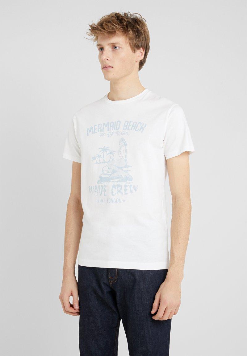 HKT by Hackett - MERMAID - Print T-shirt - white