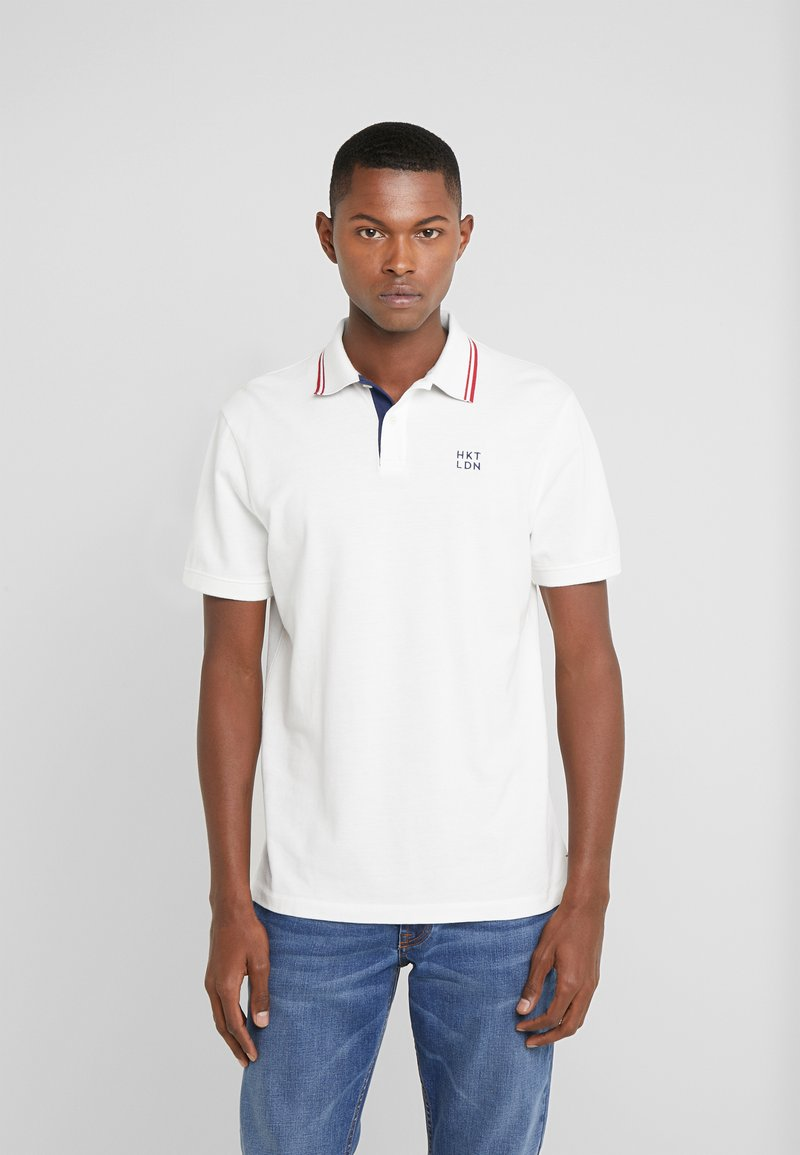 HKT by Hackett - SLIM FIT - Polotričko - white